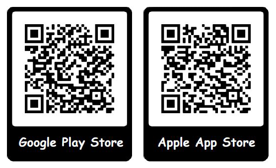 Google Play Store QR Code and Apple App Store QR Code